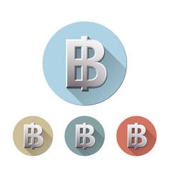 Thai baht currency symbol vector