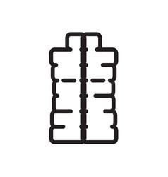 thin line winter vest icon vector image