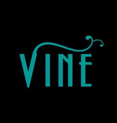 vine logo design vector image