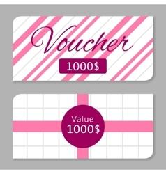 Voucher card vector