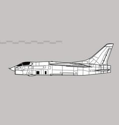 Vought rf-8 crusader vector