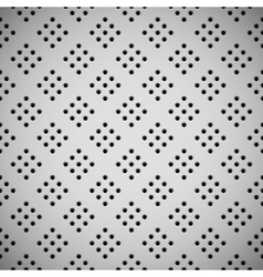 White Background with Perforated Pattern vector image
