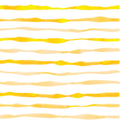 Yellow striped watercolor seamless pattern vector