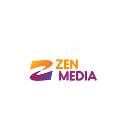 zen media sign vector image