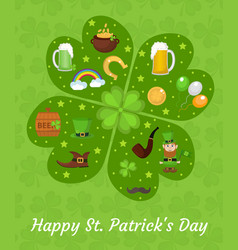 happy st patricks day greeting card template vector image vector image