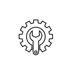 technical support line icon vector image