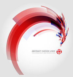 abstract background element in red and blue vector image vector image