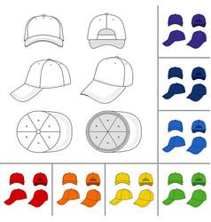 cap set vector image vector image