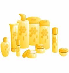 honeycombs vector image