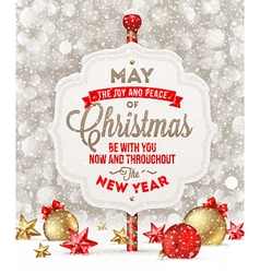 Signboard with Christmas greeting vector image vector image