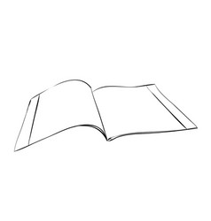 sketch of exercise book vector image