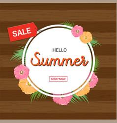 summer flowers frame or summer floral design vector image