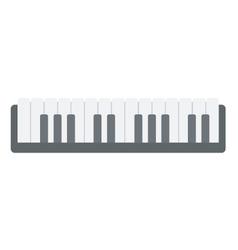 Top view of piano keyboard vector image