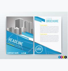 creative design business brochure vector image vector image