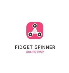 fidget spinner flat logo vector image