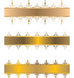 gold vintage border vector image vector image