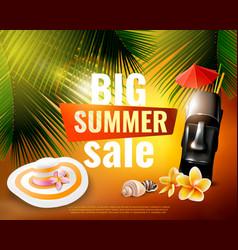 hawaiian summer sale poster vector image