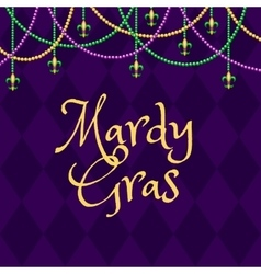 Mardy gras purple background vector image vector image