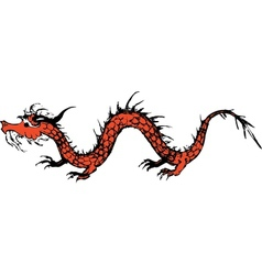 old dragon vector image