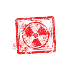 Radiation sign icon red grunge rubber stamp vector image vector image