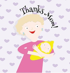 Thanks Mom vector image vector image
