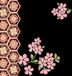 cherry blossom festival vector image vector image