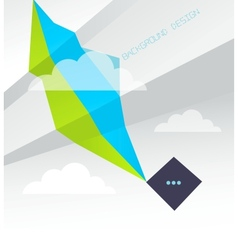 Geometric Background with clouds vector image
