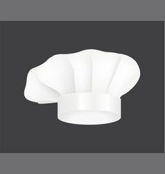 modern white chef hat restaurant uniform costume vector image vector image