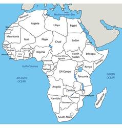 Africa - map vector