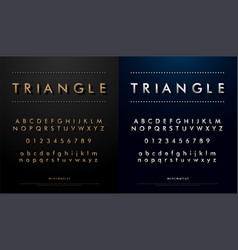 Alphabet font from triangle concept technology vector