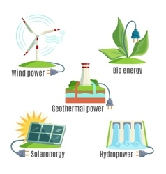 Alternative Eenergy Source Set vector image