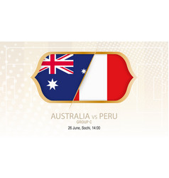 australia vs peru group c football competition vector image
