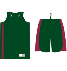 Basketball women performance game shirt and short vector