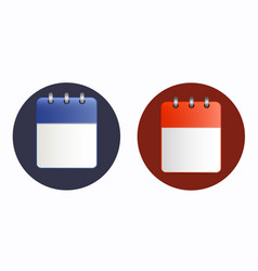 Blank sheet of calendar icon in two variants vector