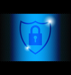 Blue future technology internet security vector
