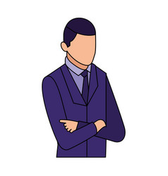 businessman portrait with arms folded business vector image