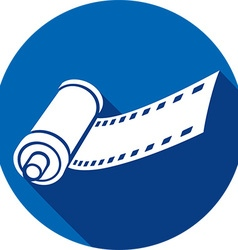 Camera Film Roll Icon vector