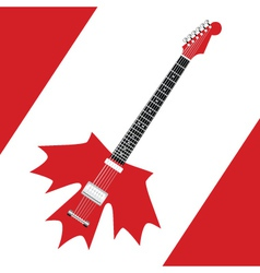 Canadian rock guitar vector image