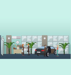 car shop concept in flat style vector image