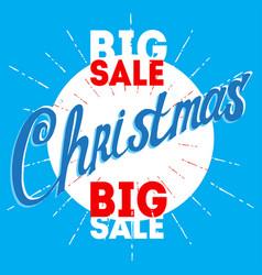 christmas big sale poster for week vector image