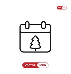 christmas day on calendar icon vector image