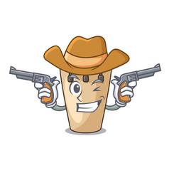 cowboy conga character cartoon style vector image