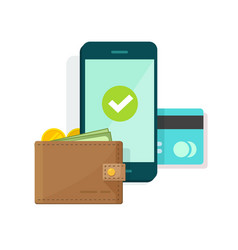 digital mobile wallet icon vector image