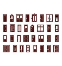 doors interior and exterior objects doors vector image