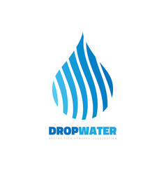 drop clean water - business logo template vector image