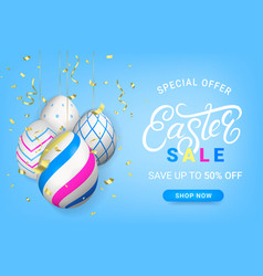 easter sale discount banner template vector image