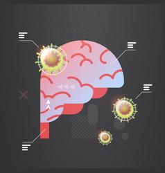 epidemic mers-cov floating influenza virus vector image