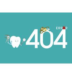 Error of dental vector image