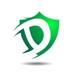 Exclusive Insurance D Security Shield Logo Icon vector