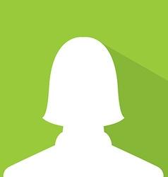 Female avatar profile picture green earth vector